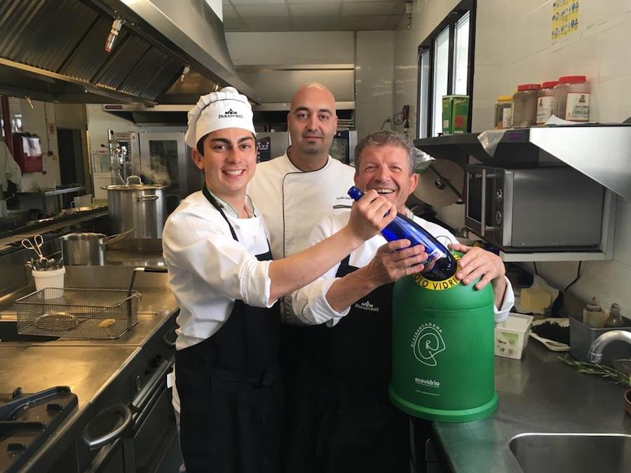 Paradores se suma a La Gran Cadena del reciclaje de Ecovidrio