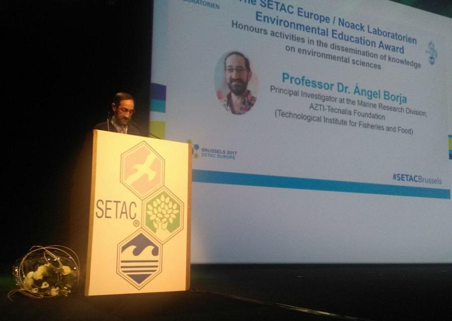 Ángel Borja, investigador de AZTI, premio europeo de educación ambiental