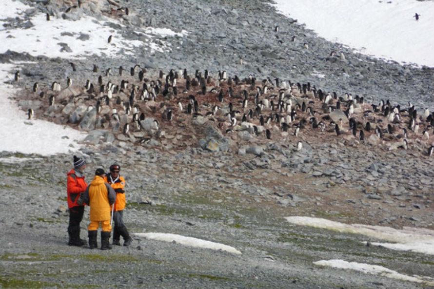 Investigadores en la Antártida