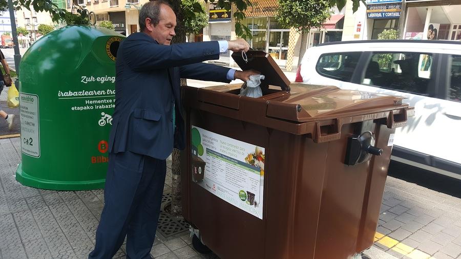 La recogida selectiva de materia orgánica se extiende por Bilbao