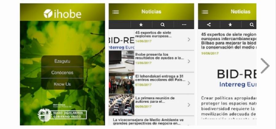 Nueva aplicación móvil de Ihobe