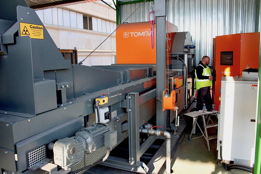 tecnología TOMRA X-TRACT en la planta de reciclaje de Rottami en Italia