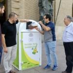 Zaragoza instala 191 nuevos contenedores para aceite doméstico usado