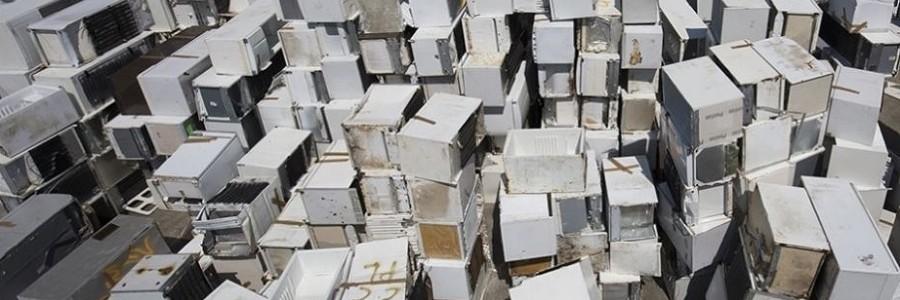 Veolia recicló el año pasado 276.500 frigoríficos en su planta de Angers (Francia)
