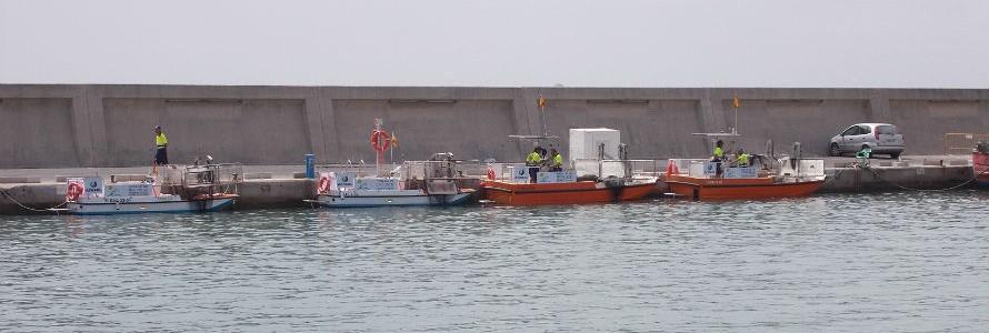 Limpieza del litoral marítimo de la Costa del Sol de Málaga