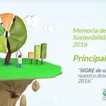 SIGRE publica su Memoria de Sostenibilidad 2016
