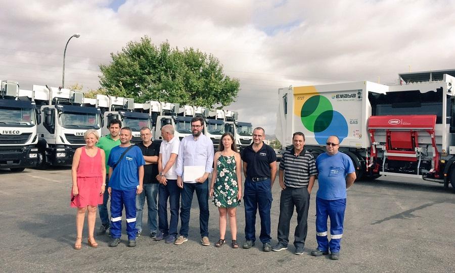Emaya incorpora nuevos camiones y vehículos de recogida de residuos