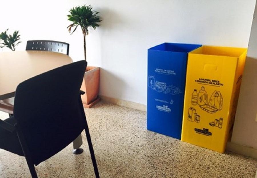 NUevas papeleras de reciclaje en las sedes administrativas de Palma