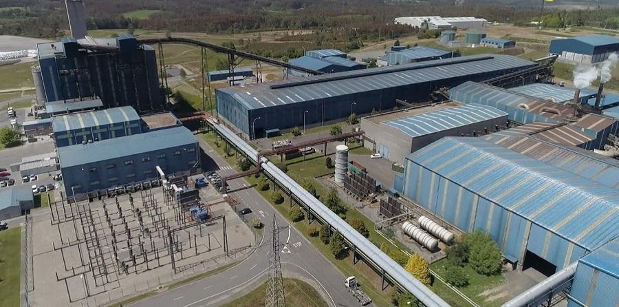Vista aérea de las instalaciones de Sogama en Cerceda