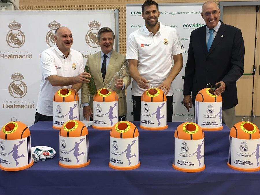 Ecovidrio y la Fundación Real Madrid colaboran para promocionar el reciclaje