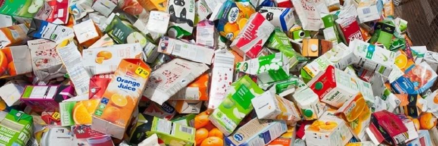 Crece el reciclaje de cartones de bebidas en la UE, pero aún debe mejorarse la recogida selectiva