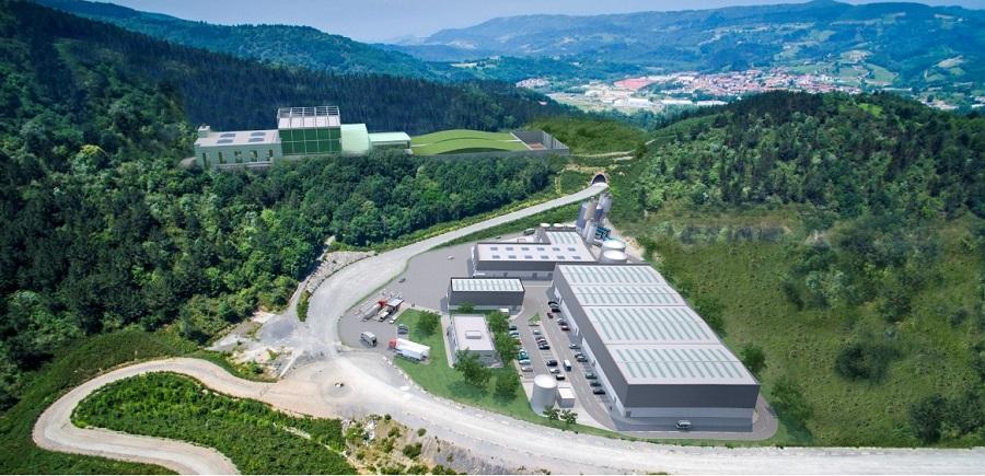 Fotomontaje del futuro centro medioambiental de Gipuzkoa