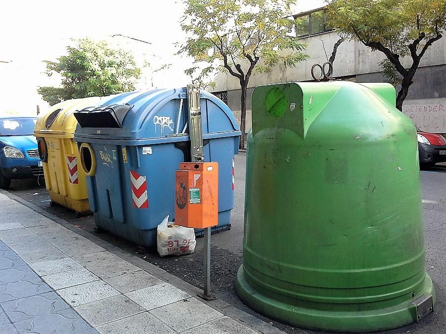Contenedores de residuos en León