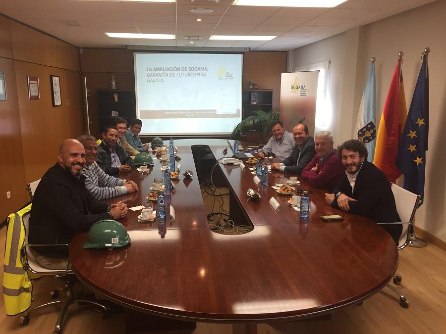 Técnicos colombianos conocen de cerca el transporte de residuos combinado de Sogama