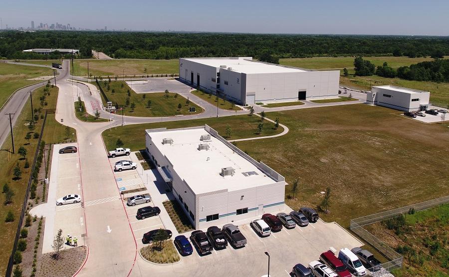 Vista aérea de la planta de reciclaje de FCC en Dallas