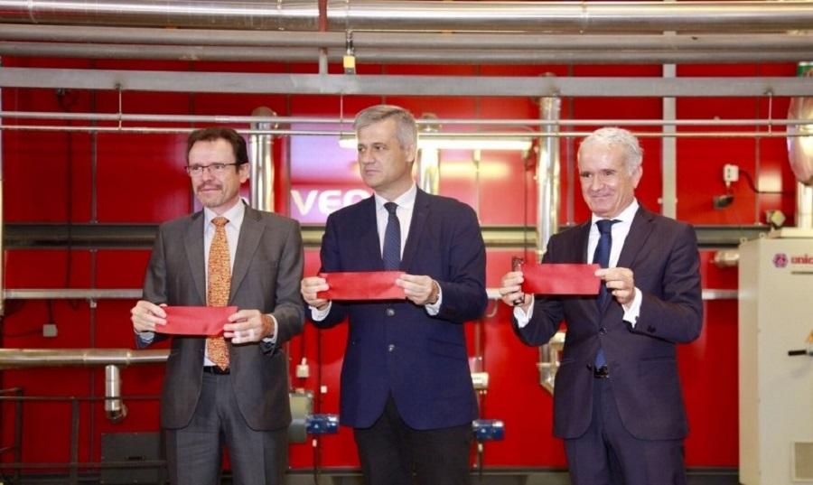 Inauguración de la red de calor con biomasa forestal