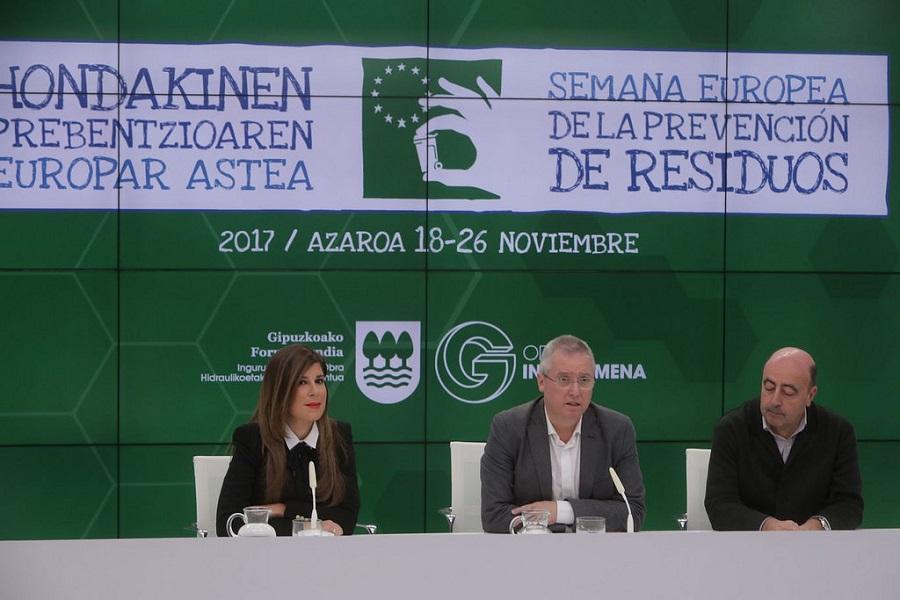 Presentación de la Semana Europea de Prevención de Residuos en Gipuzkoa