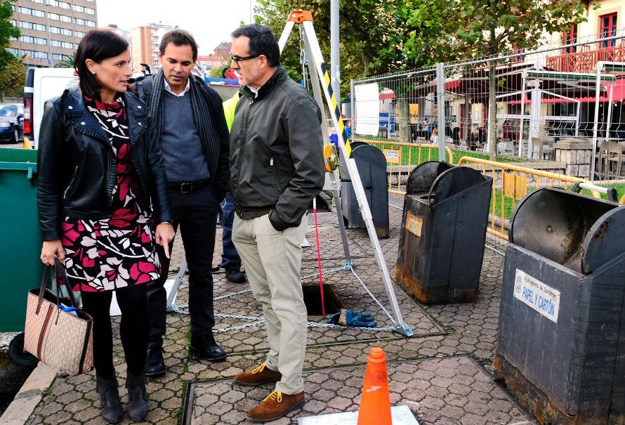 Renovación contenedores soterrados en Santander