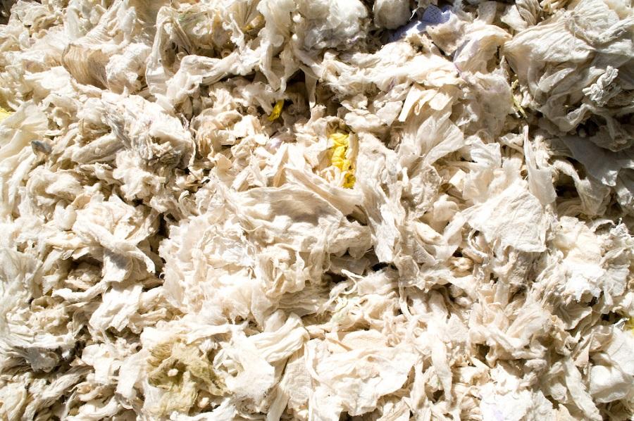Reciclaje de pañales usados