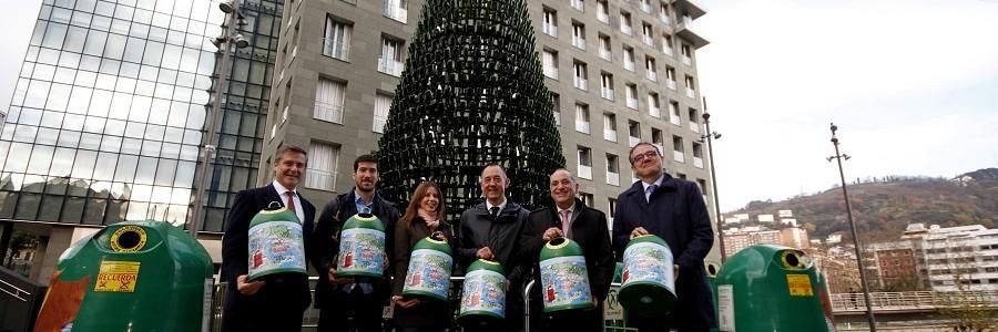 Reciclaje de vidrio contra la pobreza infantil en Bizkaia