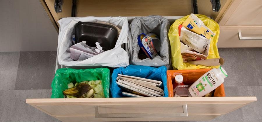 El sistema Optibag de Envac separa los residuos por colores