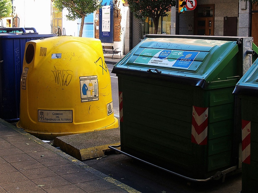 Contenedores de residuos en Asturias