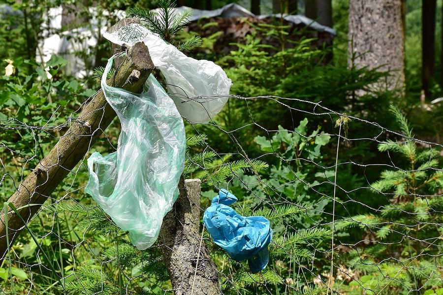 Residuos abandonados en el campo