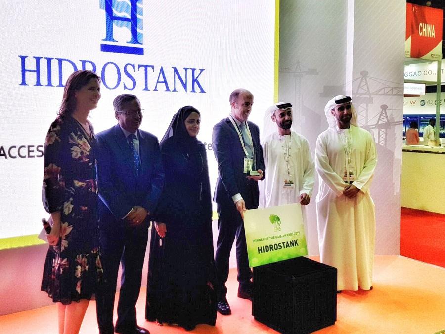 Hidrostank recibió el premio al producto más sostenible del año por sus arquetas de plástico reciclado
