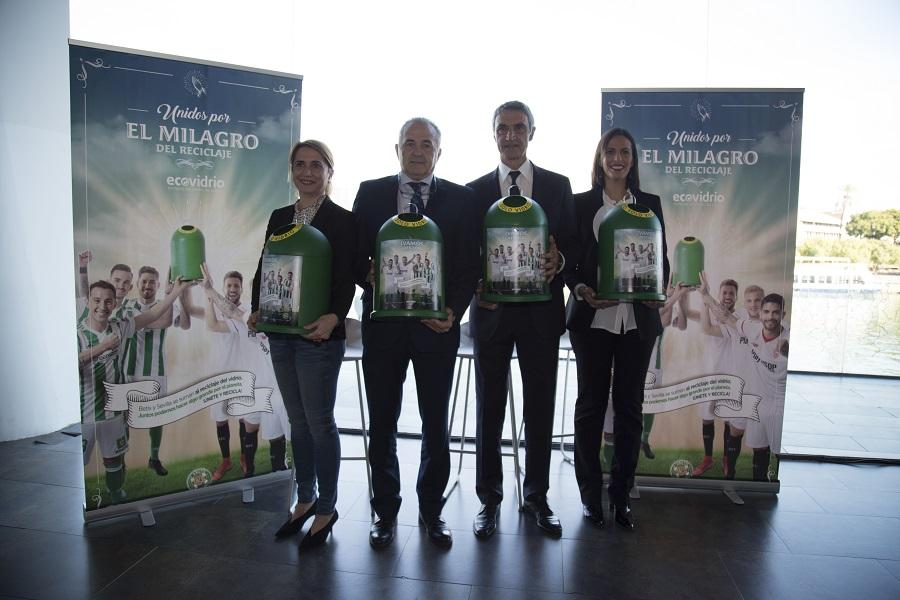 Exovidrio ha unido a Betis y Sevilla en favor del reciclaje