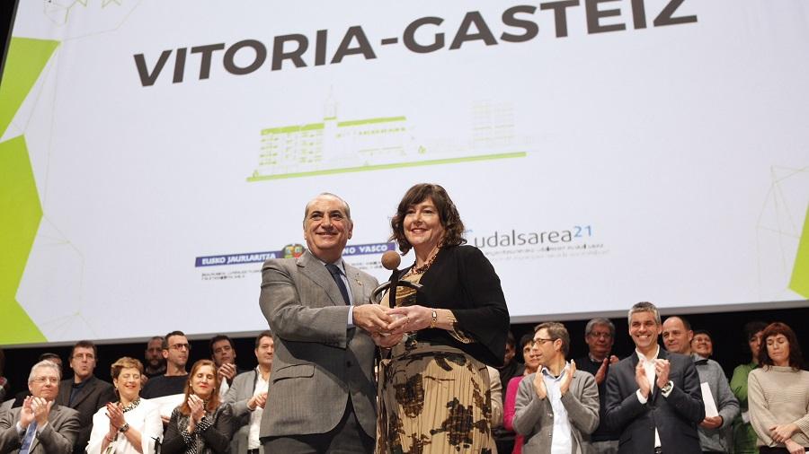 Vitoria-Gasteiz ha recibido el premio Municipio Sostenible 2017
