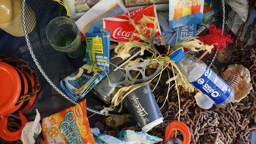 residuos recogidos en el mar