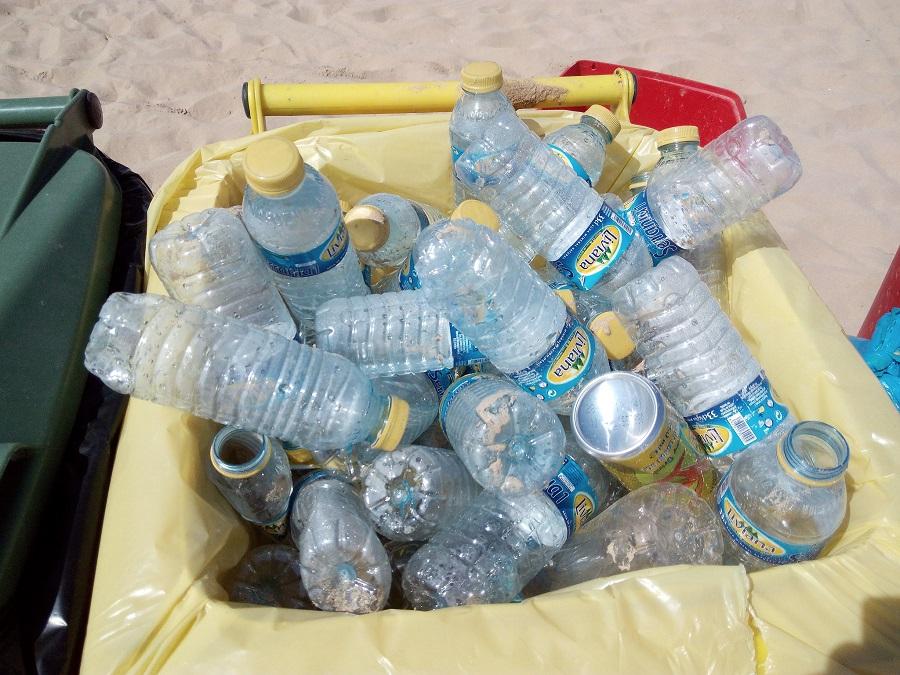Residuos de envases recuperados para su reciclaje
