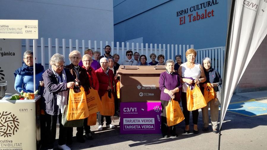 La Mancomunitat de Les Valls empieza con gran éxito la recogida de materia orgánica