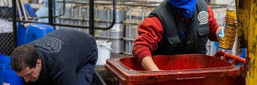 Zaragoza recupera 172.000 litros de aceite doméstico usado