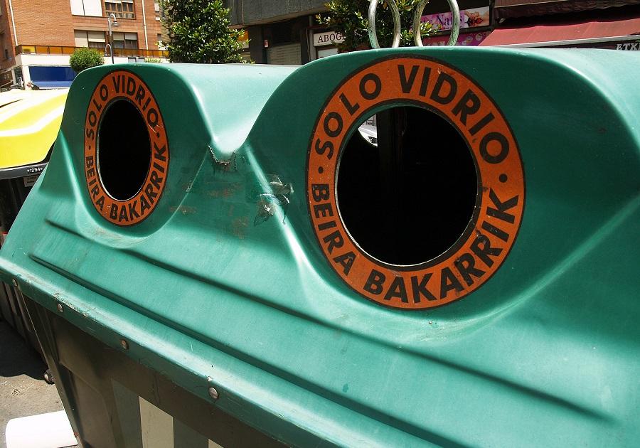 Euskadi sigue aumentando la tasa de reciclaje de vidrio