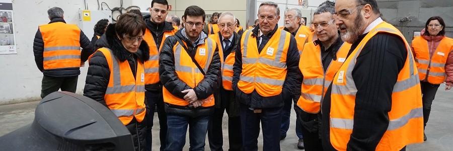 Inaugurada la nueva nave de reciclaje de residuos electrónicos de la planta de Aoiz (Navarra)