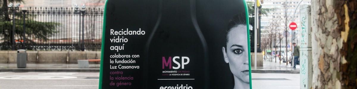 El reciclaje de vidrio se une al 'Movimiento Sin Piedad' contra la violencia de género