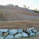 Valorización de residuos orgánicos en la reparación de un muro de escollera