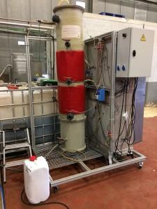 Prototipo de depuración de aguas residuales de la UBU