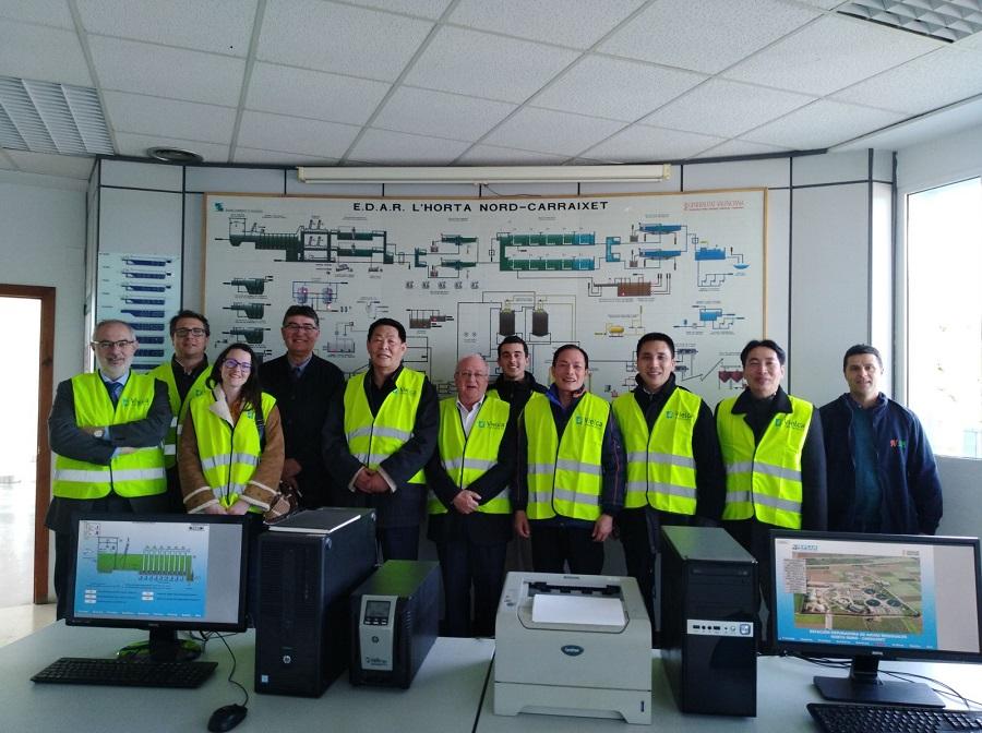 visita del grupo inversor de China a una planta de residuos valenciana