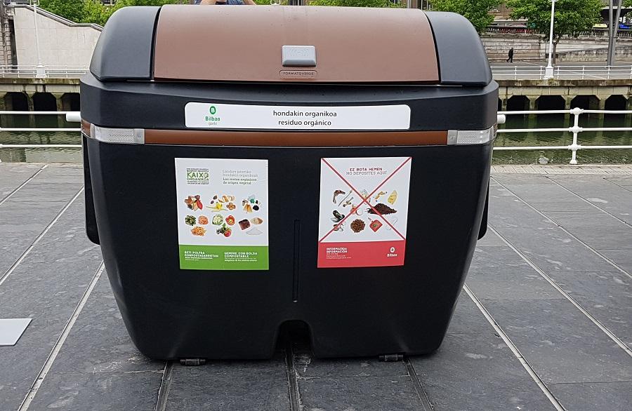 nuevo contenedor de materia orgánica de Bilbao
