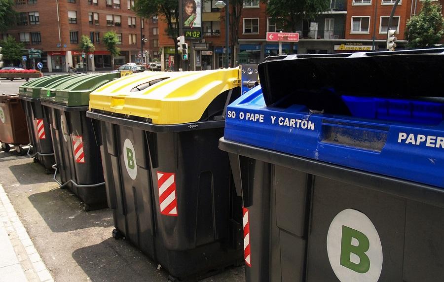 Contenedores de residuos en Bizkaia