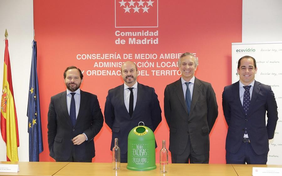 Presentación de los datos de reciclado de vidrio en 2017 en la Comunidad de Madrid