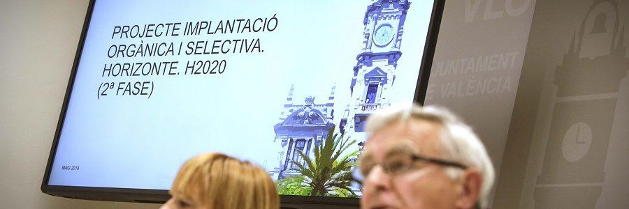 La recogida selectiva de materia orgánica en Valencia alcanzará este año a más de la mitad de la población
