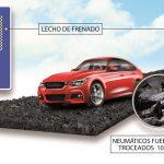 El proyecto OASIS propone usar neumáticos fuera de uso en los lechos de frenado de las carreteras