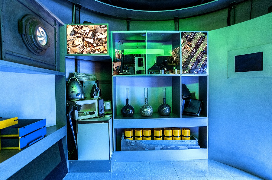 Exposición sobre gestión de residuos electrónicos en el Centro de Educación Ambiental de Artigas-Arraiz