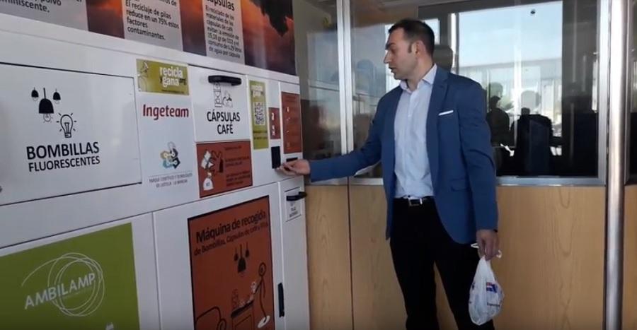 máquina de reciclaje del Parque Científico Tecnológico de Castilla-La Mancha