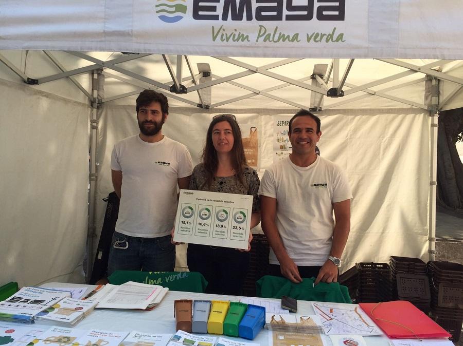 Neus Truyol, presidenta de Emaya, presentó los datos de recogida selectiva de Palma