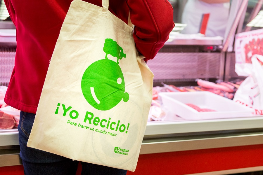 Campaña para impulsar el reciclaje desde los comercios en Zaragoza