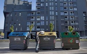 Contenedores de reciclaje en Vitoria